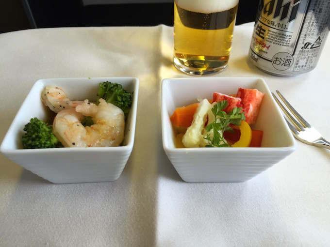 JAL business class menu